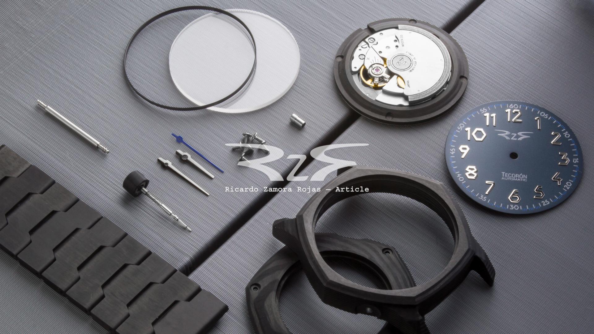 Carbon fiber RzR watch article