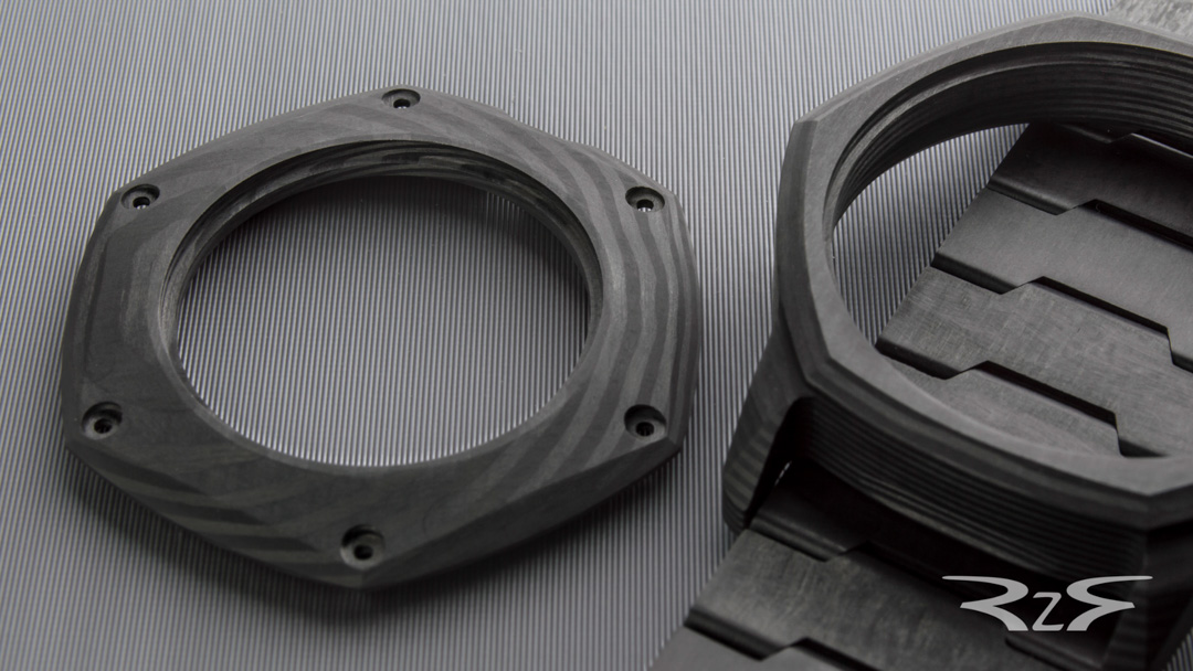 Carbon fiber watch parts